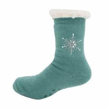 Dames anti slip huis antislip sokken slof antislip sokken petrol maat 35 42
