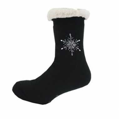 Dames anti slip huis antislip sokken /slof antislip sokken zwart maat