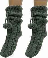 2 paar donkergrijze huis antislip sokken slof antislip sokken voor dames